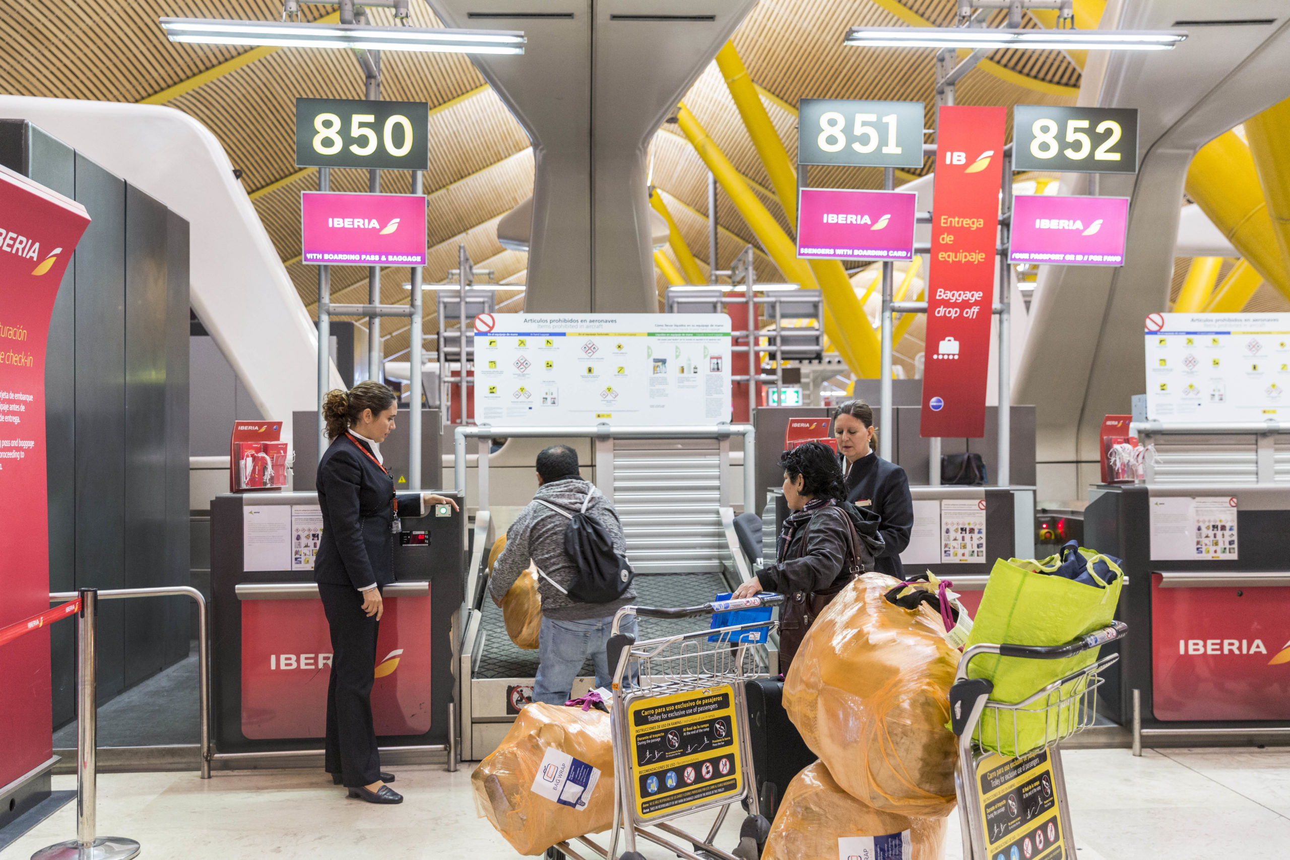 Revolución en el equipaje facturado de Iberia