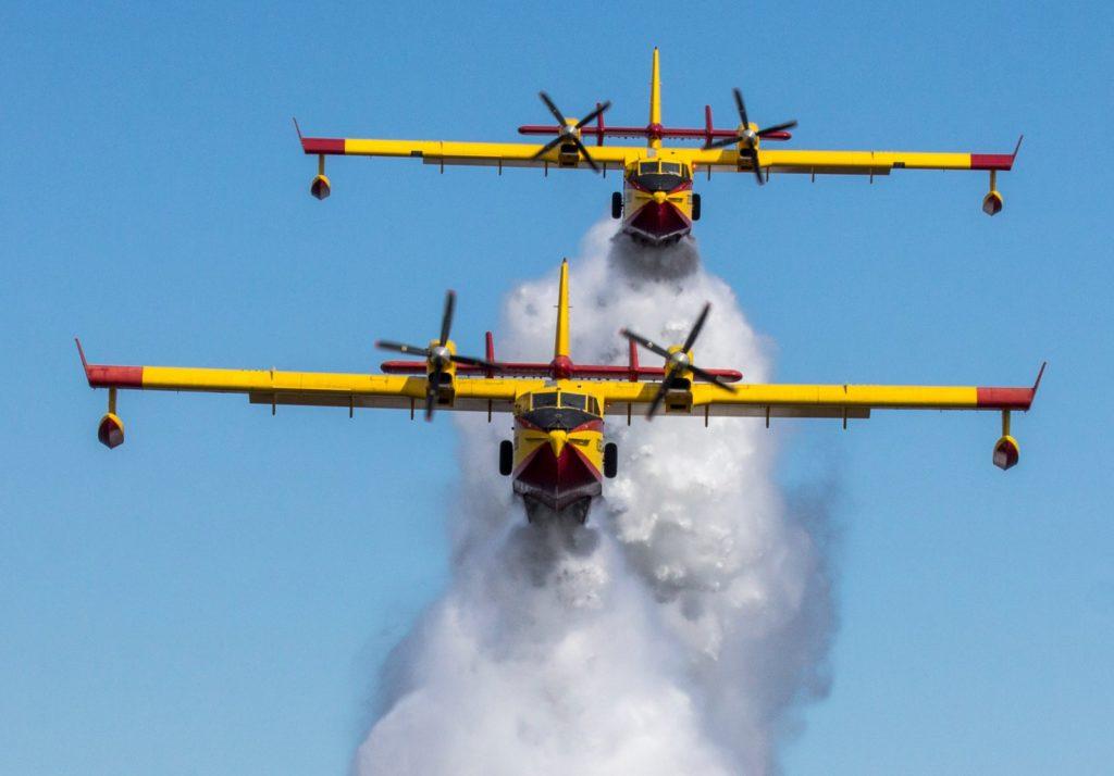 Dos aviones del Ejército del Aire luchan contra los incendios en Turquía