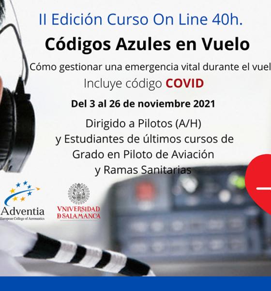 La Universidad de Salamanca y Adventia inician el 2 de noviembre una nueva edición del curso 'Códigos azules en vuelo'